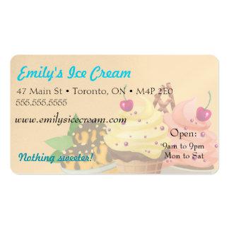Tarjeta de visita, helado decorativo tarjetas de visita