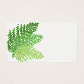 Tarjeta De Visita Helechos verdes