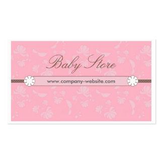 Tarjeta de visita hermosa de la tienda del bebé