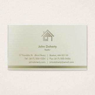 Tarjeta De Visita Hogar moderno del agente inmobiliario el |