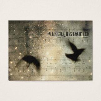 Tarjeta De Visita Hoja musical de los cuervos