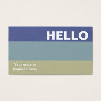 Tarjeta De Visita Hola con clase mínimo de la paleta de colores de