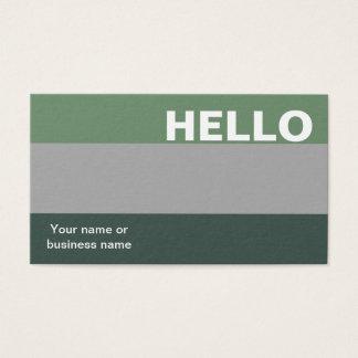 Tarjeta De Visita Hola con clase mínimo de la paleta de colores gris