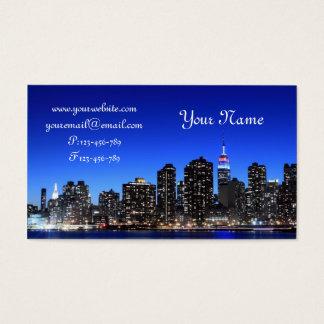 Tarjeta De Visita Horizonte de Midtown Manhattan, New York City