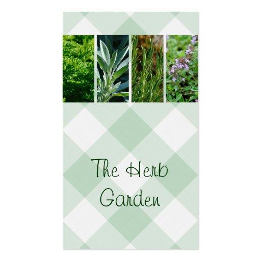 Tarjeta de visita hortícola de las hierbas