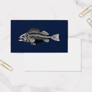 Tarjeta De Visita Huesos de pescados blancos y negros
