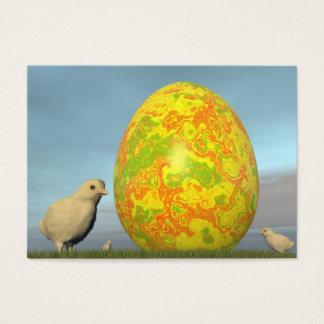 Tarjeta De Visita Huevos coloridos para pascua - 3D rinden