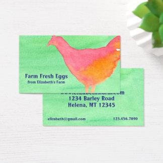 Tarjeta De Visita Huevos frescos del pollo anaranjado