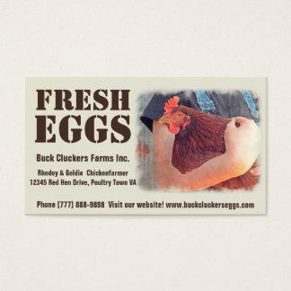 Tarjeta De Visita Huevos frescos - pollo rojo de la capa de la