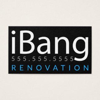 Tarjeta De Visita iBang. Negocio de la renovación de la techumbre de