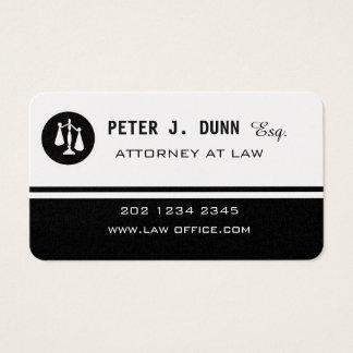Tarjeta De Visita Imán blanco negro del abogado de la ley del