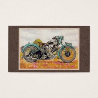 Tarjeta De Visita Impresión azul de la motocicleta de la aguamarina