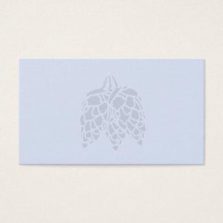Tarjeta De Visita Impresión de los saltos - azul en blanco de Lite