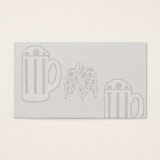 Tarjeta De Visita Impresión de los saltos de la taza de cerveza -
