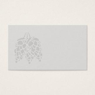 Tarjeta De Visita Impresión de los saltos - Ver.2 en blanco