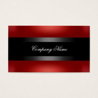 Tarjeta De Visita Indestructible negro rojo elegante