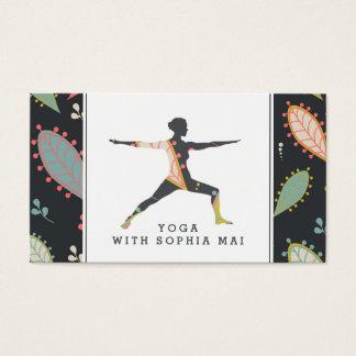 Tarjeta De Visita Instructor moderno de moda de la yoga de Boho