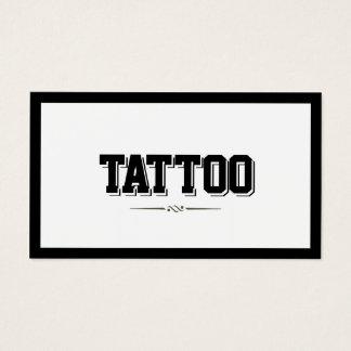 Tarjeta de visita intrépida moderna del tatuaje de