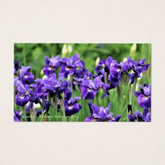 Tarjeta De Visita Iris siberiano violeta, Brother de César