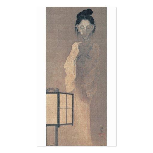 Tarjeta de visita japonesa del fantasma
