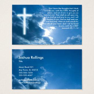 Tarjeta De Visita Jeremiah 29; 11- cristiano el pipe% azul del 14%