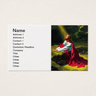 Tarjeta De Visita Jesucristo que ruega en el jardín de Gethsemane