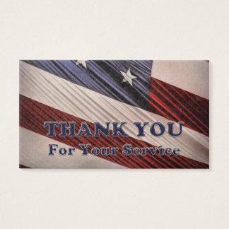 Tarjeta De Visita La bandera patriótica de los veteranos militares