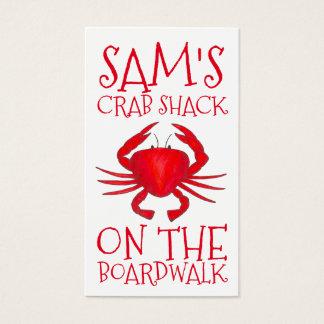 Tarjeta De Visita La cabaña roja del cangrejo de Maryland critica