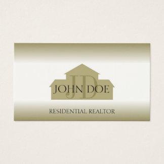 Tarjeta De Visita La casa del oro del agente del agente inmobiliario
