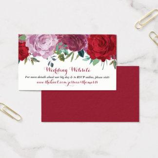 Tarjeta De Visita La colección floral romántica del boda