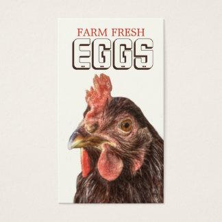 Tarjeta De Visita La granja EGGS la gallina de la capa de la