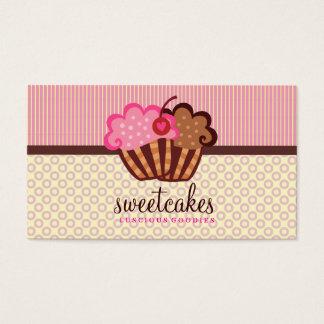 Tarjeta De Visita La magdalena dulce de 311 tortas puntea rayas de n