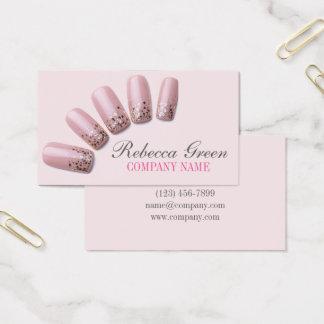 Tarjeta De Visita la manicura elegante elegante femenina clava el