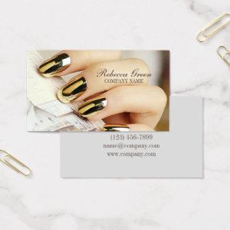 Tarjeta De Visita la manicura elegante moderna clava el salón del