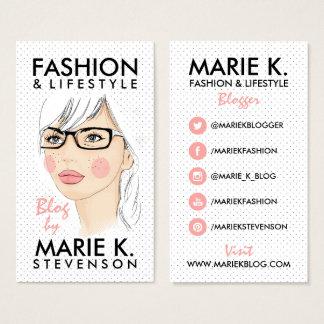 Tarjeta De Visita La moda de moda del ilustracion de la moda del