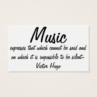 Tarjeta De Visita La música expresa…