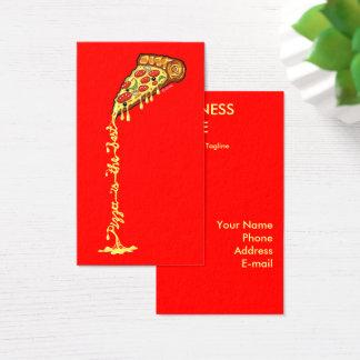 Tarjeta De Visita La pizza es el mejor