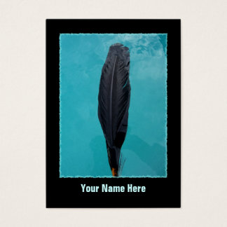 Tarjeta De Visita La pluma del cuervo