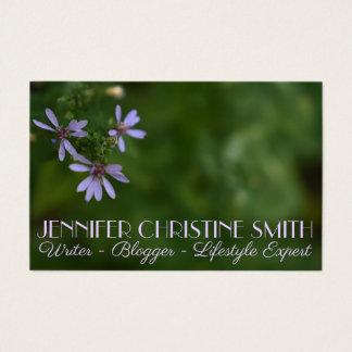Tarjeta De Visita La púrpura bonita florece fotografía del jardín de