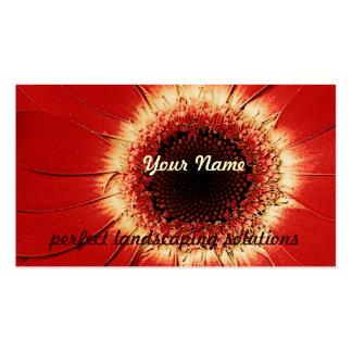 tarjeta de visita ladscaping del gerbera