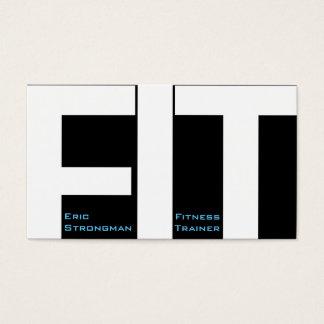 Tarjeta De Visita Las letras grandes FIT la cubierta moderna del