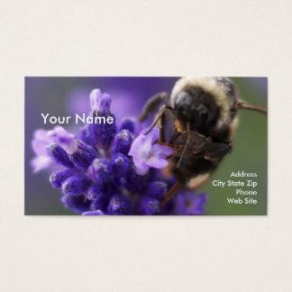 Tarjeta De Visita Lavanda y abeja