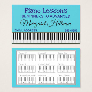 Tarjeta De Visita Lecciones de piano