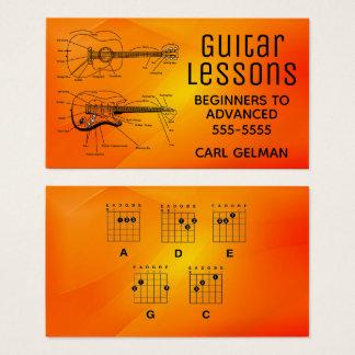 Tarjeta De Visita Lecciones intrépidas de la guitarra