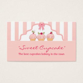 tarjeta de visita lechosa dulce rosada de la