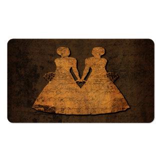 Tarjeta de visita lesbiana de las novias del amor