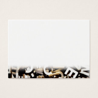 Tarjeta De Visita Letras embarulladas hechas de cierre de madera