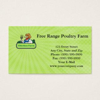 Tarjeta de visita libre de la granja avícola de la