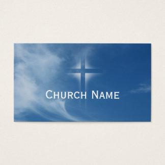 Tarjeta de visita ligera cruzada santa de la