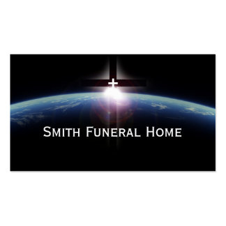 Tarjeta de visita ligera cruzada santa de la funer